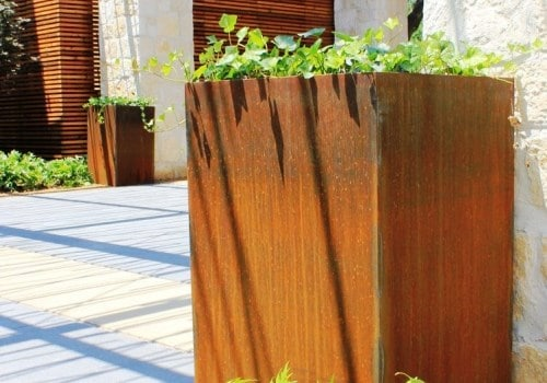 Columnar Planter - Corten Steel - Sharp Engineering