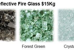 Non-Reflective Fire Glass