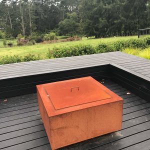 Geometric Fire Pit Table Top Lid